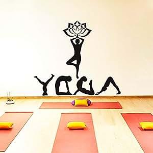 fancjj Yoga Meditación Deporte Namaste Decal Vinyl Sticker ...