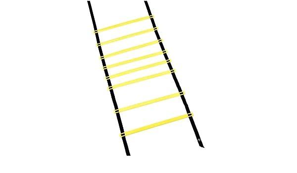 Kofferraum Escalera ágil, Fijo Pace Coordinación Escalera Sensible, Suave Escalera Saltar cuadrícula Escalera, 3 Metros 6 Secciones: Amazon.es: Hogar