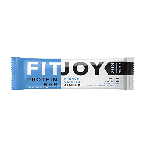 FitJoy Nutrition Protein Bar, French Vanilla Almond, 12 (Flavored Vanilla Body Powder)