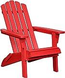 PolyTEAK Classic Folding Adirondack Chair, Cardinal Red - Looks Like Wood - All Weather Waterproof Material - Poly Resin Adirondack - Foldable Chair - Feels Like Teak