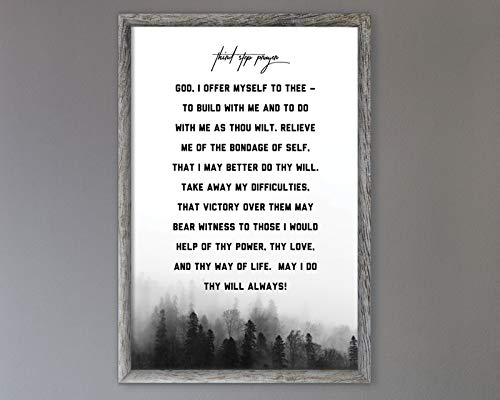 - Third Step Prayer Poster - AA - NA - Alcoholics and Narcotics Anonymous - Addiction Recovery Gift Poster - Sober Therapy Print Wall Decor