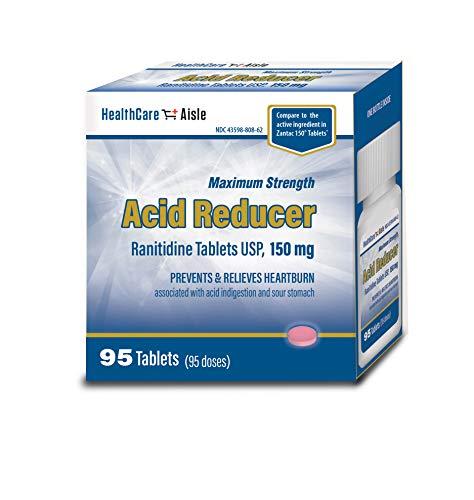 HealthCareAisle Ranitidine Tablets USP, 150 mg, 95 Count