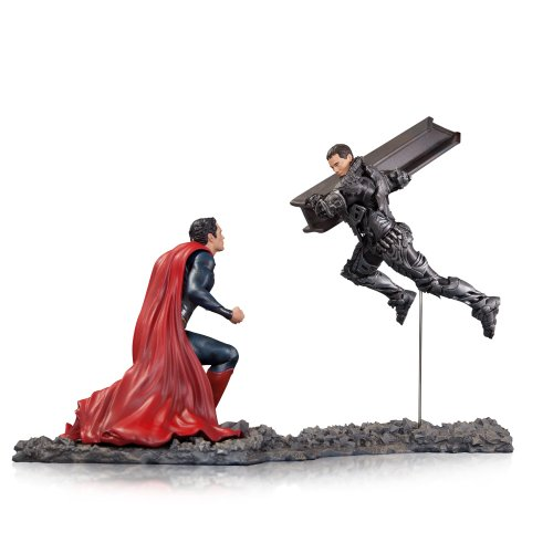 DC Collectibles Man of Steel Superman vs. Zod 1 Statue, Scale 12