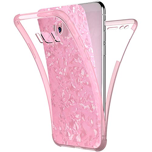- Compatible with Samsung Galaxy S8 Plus Case,PHEZEN Sparkle Bling Crystal Clear Bumper TPU Silicone Rubber Back Cover Slim Fit Shockproof 360 Full Body Protection Case Cover for Galaxy S8 Plus,Pink