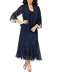 R&M Richards Women's 14W- 34W Plus Size Beaded Jacket Dress - Mother of The Bride Dresses