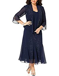 74d1813dec581 Women s 14W- 34W Plus Size Beaded Jacket Dress - Mother of The Bride Dresses