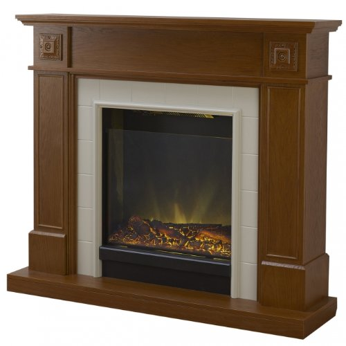 - Adam Chester Electric Fireplace Mantel Package in Vintage Oak