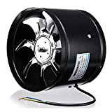OlogyMart 8 Inch 220V 80W Inline Duct Fan Booster Exhaust Blower Air Cooling Vent Stainless Steel Vane