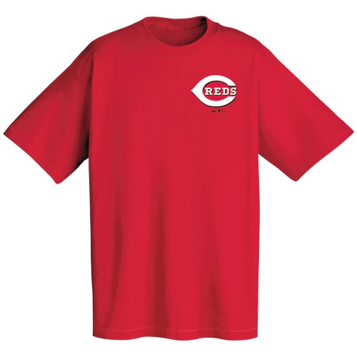 MLB Cincinnati Reds Wordmark T-Shirt, Red, X-Large ()