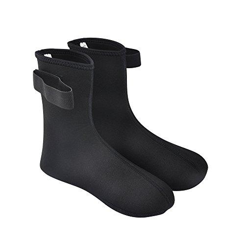 Vishusju 3mm Neoprene Fin Socks for Water Sports Diving Surfing (Black, XL)