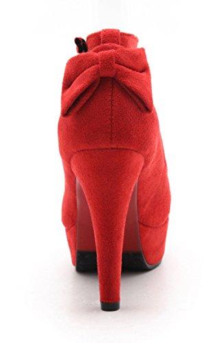 Scarpe caviglia alla YE Rot Donna con cinturino dwnFp