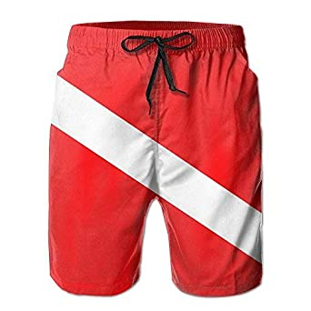 YINGWANG Dive Flag Mens Summer Surf Swim Trunks Beach Shorts Pants Quick Dry with Pockets