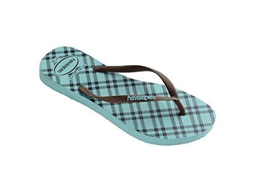 Havaianas Slim Retro Ice Blue Flip Flop 35/36 4JITK8cNZ
