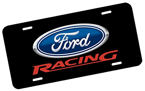Nostalgia Decals Ford Racing License Plate