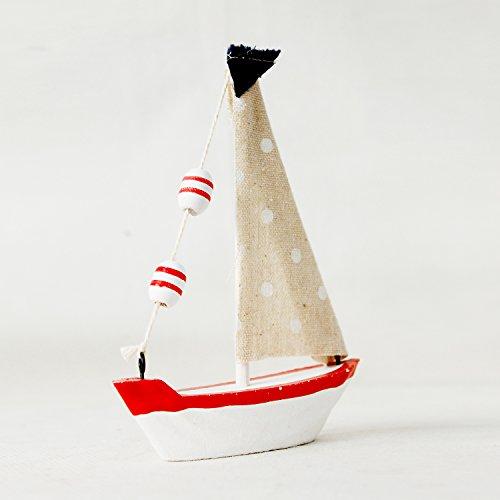 Attraction Design Wood Handmade Vintage Nautical Sailboat Ship Boat Model Decoration Set of 4