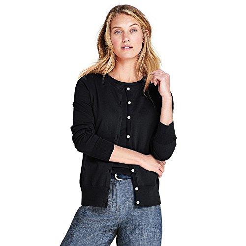 Lands' End Women's Supima Cotton Cardigan Sweater, L, (Fine Cotton Long Sleeve Cardigan Sweater)