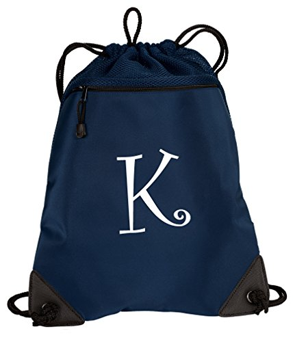 Broad Bay Personalized Drawstring Bag Monogram Cinch Pack Bag for School or Travel]()