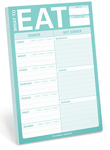 Knock Knock What to Eat Pad (Mint Green) - 12284
