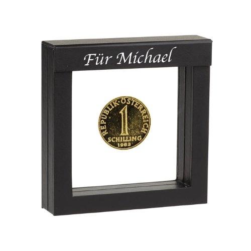 Historia 1 Schilling vergoldete Münze 1992 in Präsentations-Etui mit Ihrer individuellen Namens-Gravur