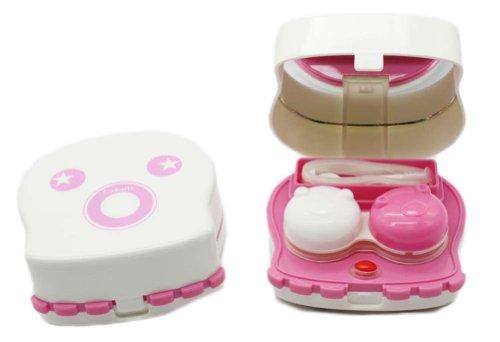 Elleables électrique Contact Lens Auto Cleaner Laveuse dispositif de nettoyage bon cadeau (Fuchsia)