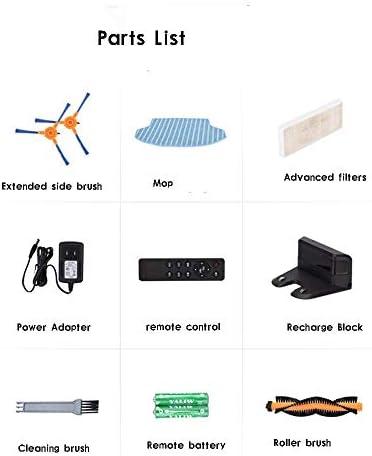 FENGTING W Aspirateur Robot Wi-FI, Super-Thin, 2200Pa Aspiration, Bandes limites Inclus, Calme, Aspirateur Robot de Recharge Automatique, Nettoie Dur à planchers Tapis Moyen Pile