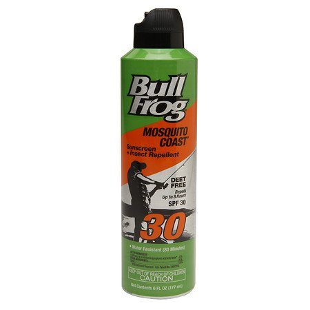 BullFrog Mosquito Coast Spray Sunscreen + Insect Repellent SPF 30 6 oz (Pack of 4)