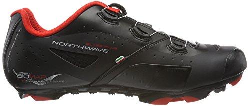Northwave Hombre Blaze Plus bicicleta guantes negro/blanco/rojo
