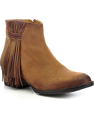 US Tan Circle 11 Toe Fringe M Women's Boot G Short Round 00qn4vZ