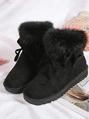 YSFU Stiefel Frauen Lässig Schnee Stiefel Atmungsaktiv Warme Stiefel Damen Stiefelies Stiefelie Lässig Frauen Herbst Winter Outdoor Turnschuhe Sport Flache Rutschfeste Schuhe f68112