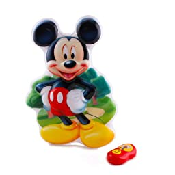 Disney Talking Wall Night Light Mickey Mouse with Remote - 13 Inch