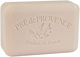 Pre de Provence Artisanal French Soap Bar Enriched with Shea Butter, Quad-Milled For A Smooth & Rich Lather (250 grams) - Coconut