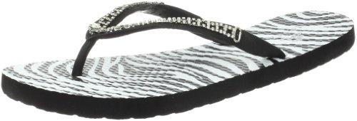 Nomad Women's Spark Flip Flop, Black Zebra, 9 M US - Zebra Print Flip Flops