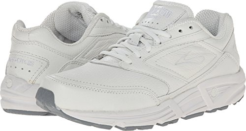 Brooks Men 's Addiction Walker Walking Zapato, color Blanco, talla 12 D (Best Men's Walking Shoes With Arch Support)