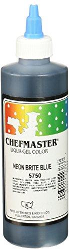Chefmaster Liqua-Gel Food Color, 10.5-Ounce, Neon Brite Blue by Chefmaster