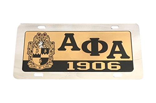 Alpha Phi Alpha Fraternity License Plate Car Tag For Front Back of Car Divine 9 (Car Tag - 7705) Craftique