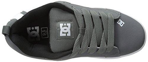 Dc Mens Court Graffik Skate Shoe Grigio / Bianco / Grigio