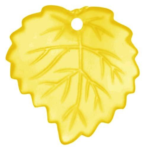 Aspen Leaf Beads (Lucite Aspen Leaves Topaz Yellow Light Weight 16mm (4))