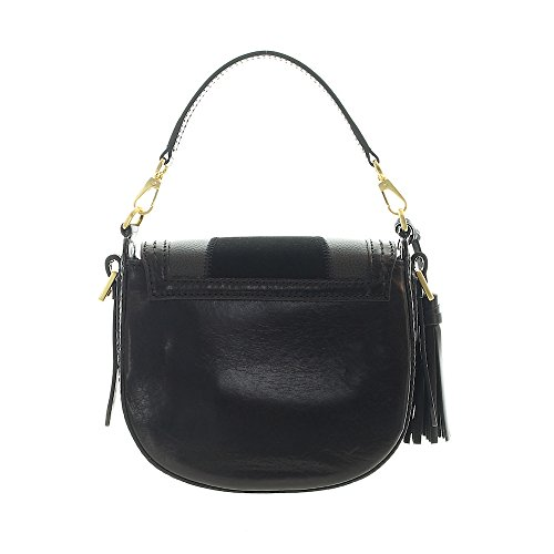 The Mini Bridge 20 goldfarben cuir Sac Nero cm à Barga Bag main qqgHwxUfr