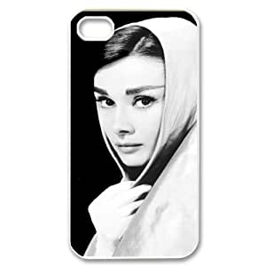 TOSOUL Customized Print Audrey Hepburn Pattern Back Case for iPhone 4/4S