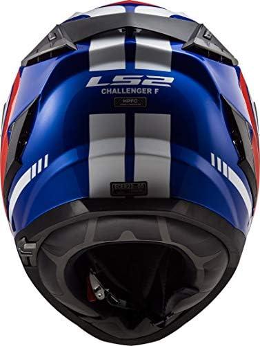 LS2 Casco Moto 2019 Ff327 Challenger Fusion-Blu-Rosso Xxs, Blu