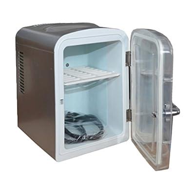 Generic Personal Compact Mini Fridge Refrigerator Breastmilk Storage 12V 110V Theremoelectric Travel Car Cooler and Warmer Soda Camper,4.5 L