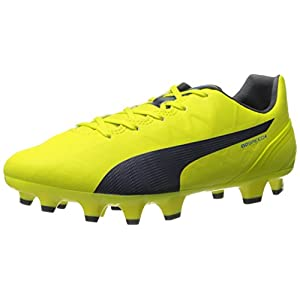 PUMA Women's Evospeed 4.4 Firm Ground WN's Soccer Shoe, Sulphur Spring/Total Eclipse/Electric Blue Lemonade, 7 B US