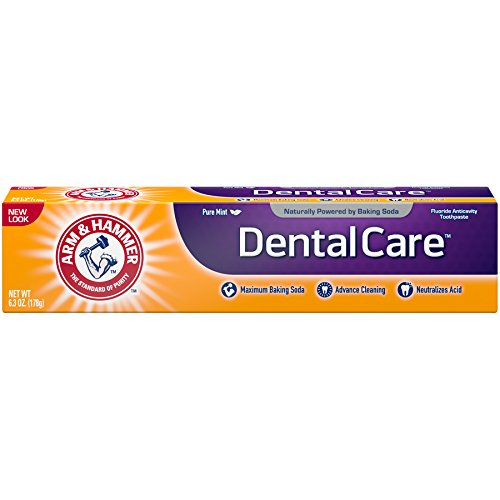 Dental Toothpaste - Arm & Hammer Dental Care Toothpaste, 6.3 oz (Pack of 6) (Packaging May Vary)