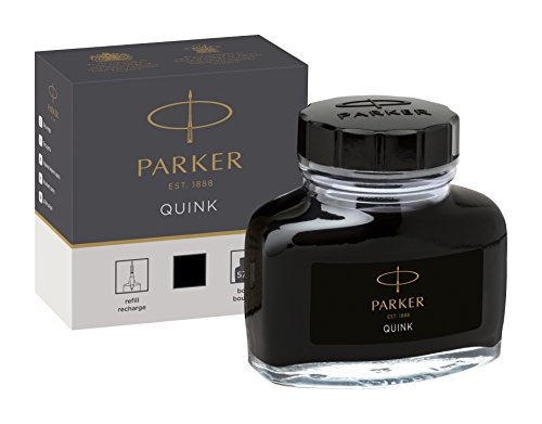PARKER QUINK Ink Bottle, Black, 57 - Ink Pot