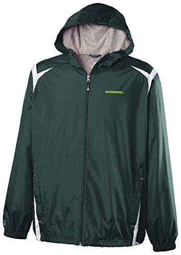 (Ouray Sportswear NCAA Oregon Ducks Youth Collision Jacket, Large, Dark Green/White )