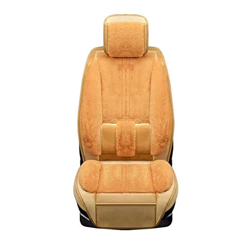 TD Car Seat Covers Winter Car Seat Cover All-Inclusive Seat Cover Set Comfortable (Color : Beige)
