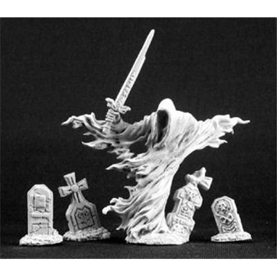 Fantasy Monster Miniature (Grave Wraith and Tombstones)