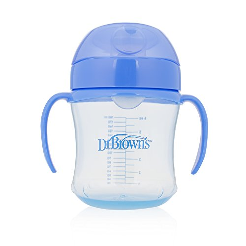 Dr. Brown's Soft-Spout Transition Cup, 6 oz (6m+), Blue, Single