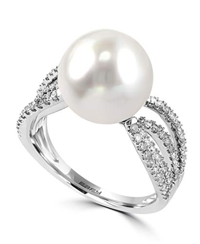 - Effy Pearl South Sea Pearl (11-12mm) & Diamond (1/2 ct. t.w.) Ring