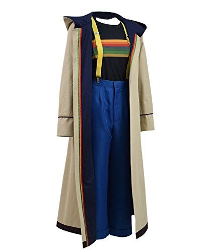 Adults 13th 12th 11th Doctor Series Coat Costume for Halloween (Women M, 13th fullset)]()